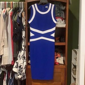 Royal blue and white summer dress